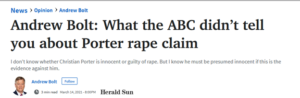 Andrew Bolt and the ABC