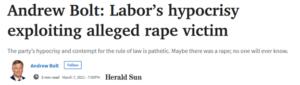 Andrew Bolt Labor's hypocrisy