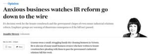 IR Bill: anxious wait