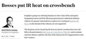 IR Bill: bosses put heat on