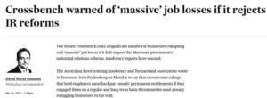IR Bill: Crossbench warned