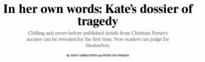 Porter Defamation: Kate dossier