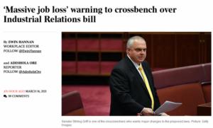 IR Bill: Massive job loss warning