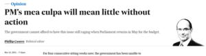 PM's mea culpa