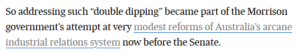 IR Bill: double dipping