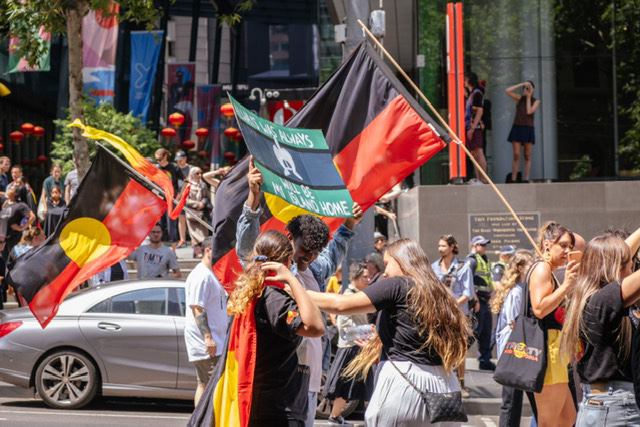 Indigenous protest feature