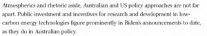 Australia, US 'not far apart'