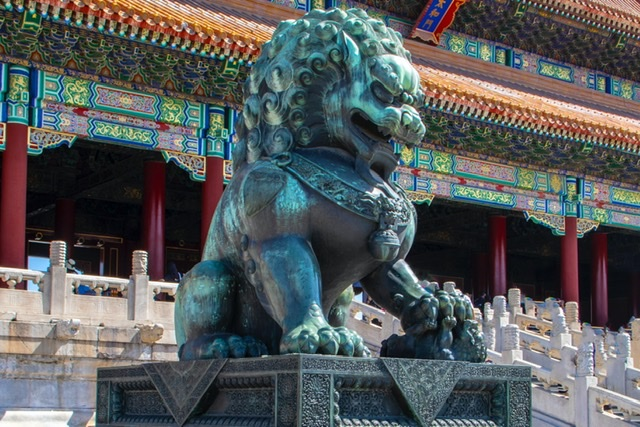 Feature Chinese statue