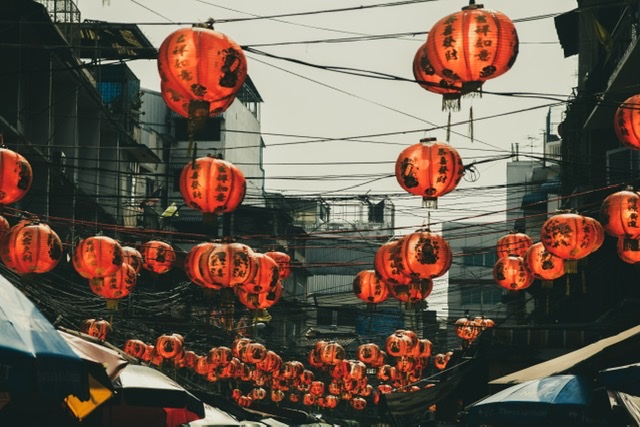Chinese lanterns feature