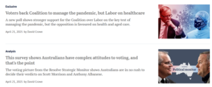 Voters back Coalition