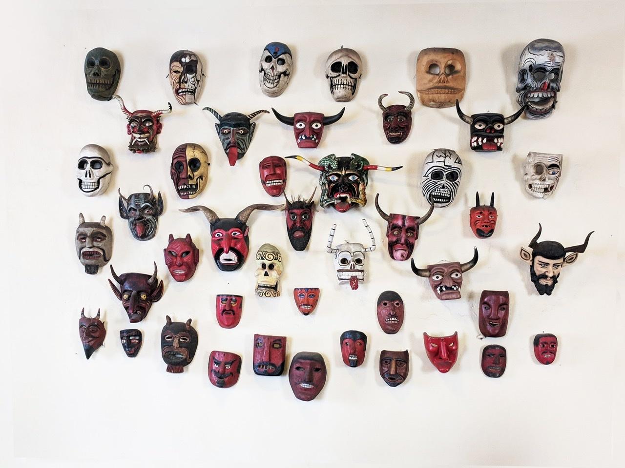 Devil masks feature