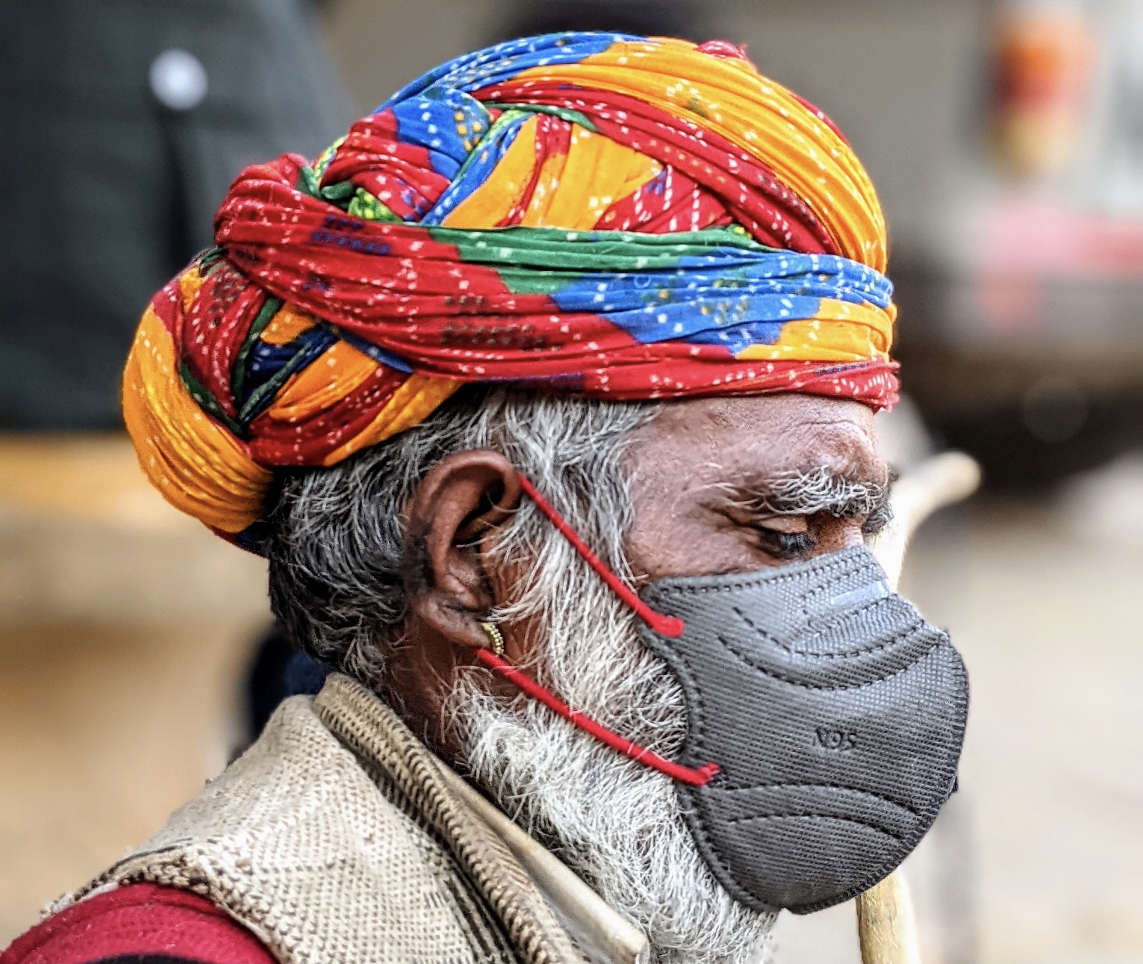 Indian with mask feature