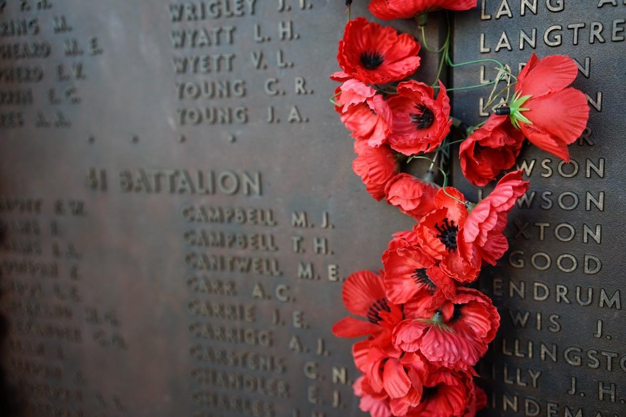 Anzac memorial feature