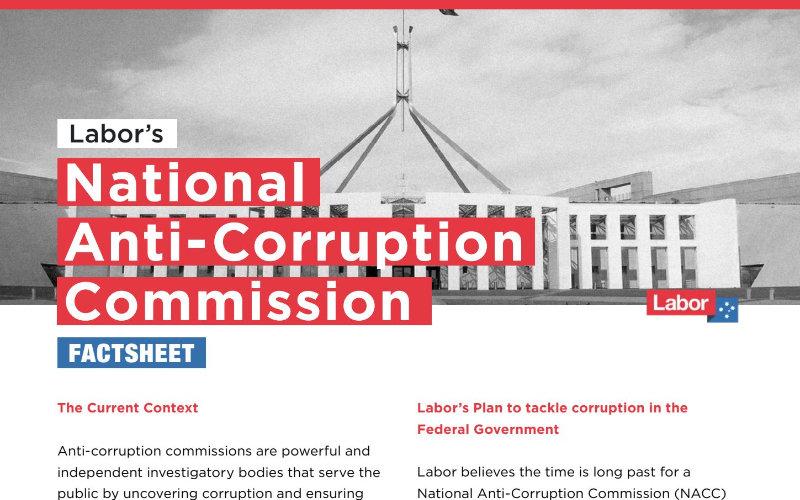 Labor's NACC proposal