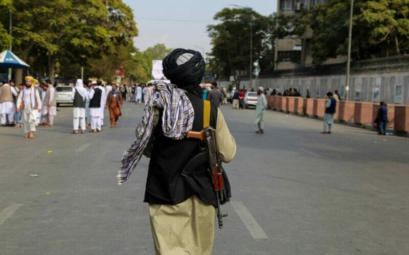Taliban patrol Kabul Afghanistan
