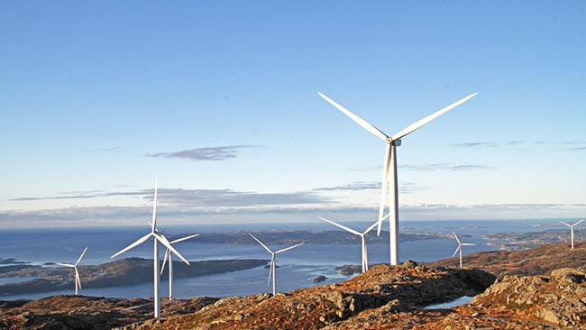 Wind farms in Norway renewable energy
