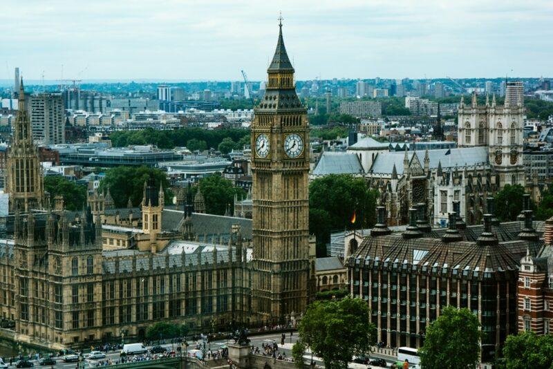 westminster big ben london uk