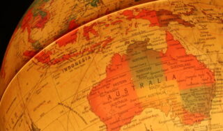 australia world map