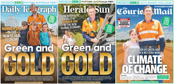 news corp climate front pages